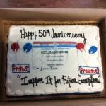 Medicare 50th Anniversary Cake